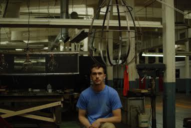 Metal Worker Creates Custom Chandeliers And Comic Book